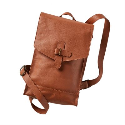 Mandi Leather Backpack - Camel
