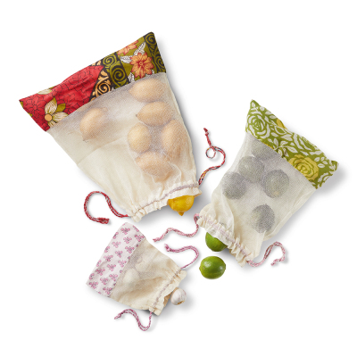 Reusable Kantha Produce Bags - Set of 3