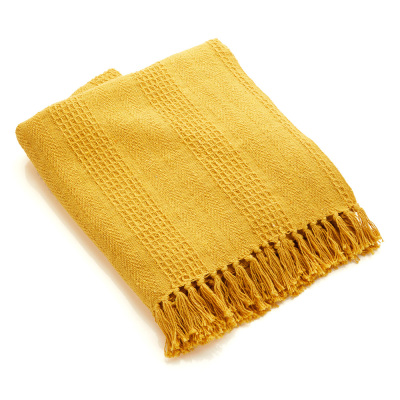 Mustard Rethread Throw - Buy 2 and Save!