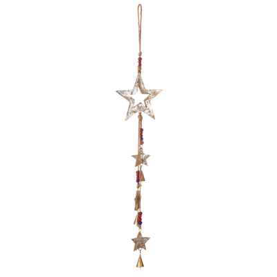 Falling Stars Wood Bell Chime
