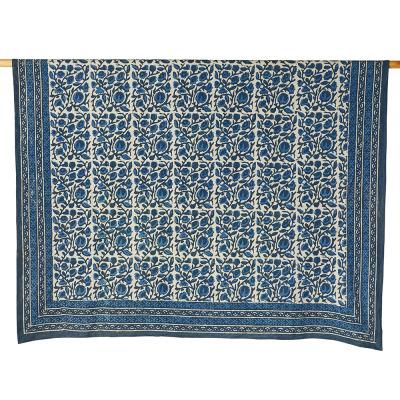 Indigo Floral Dabu Tablecloths
