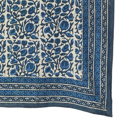 Indigo Floral Dabu Tablecloths - Standard