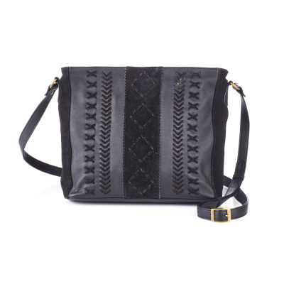Jet Braided Crossbody Bag