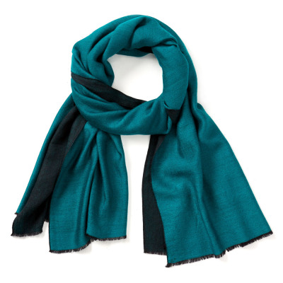 Turquoise Kashmiri Solid Scarf