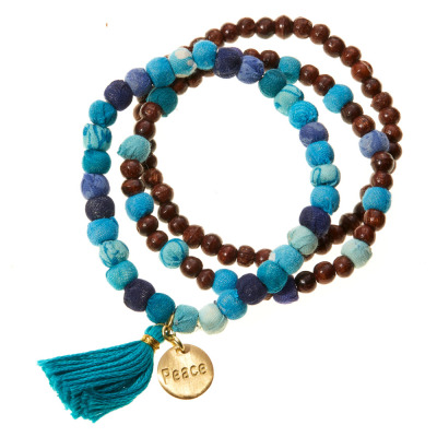 Peace Virtues Bracelets - Set of 3
