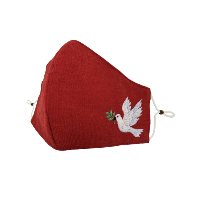 Dove of Peace Embroidered Mask