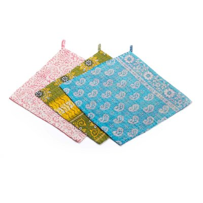 Kantha Dish Cloths - Set of 3