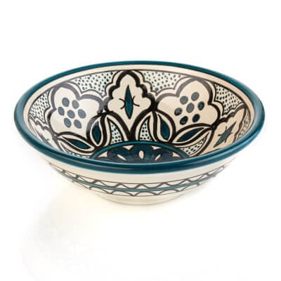 Teal Jasmine West Bank Bowl