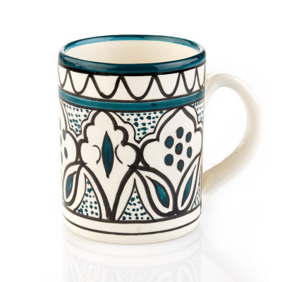 Teal Jasmine West Bank Mug
