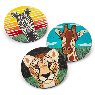 Savannah Selfies Soapstone Trivets - Set of 3