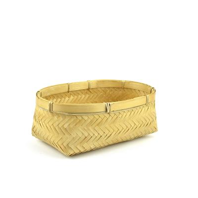 Herringbone Bamboo Basket