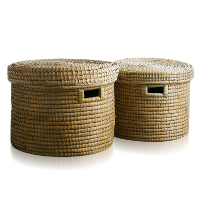Round Kaisa Grass Baskets - Set of 2