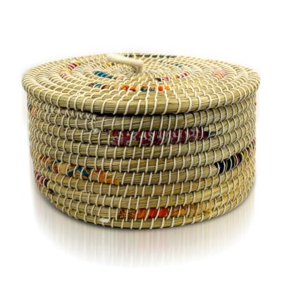 Small Chindi Stripe Basket