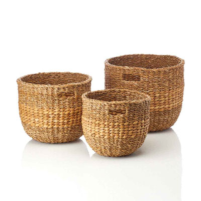 Natural Nesting Baskets (XL) Set of 3