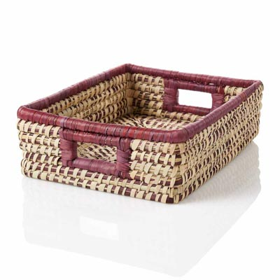 Amethyst Stripe Tray Basket