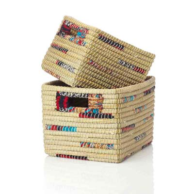 Chindi Stripe Nesting Baskets (XL) - Set of 2