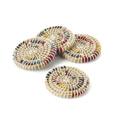 Chindi Stripe Coasters - Set of 4