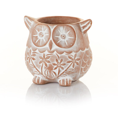 Who's Who Owl Terracotta Planter