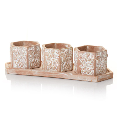 Basanta Meadow Planters - Set of 3