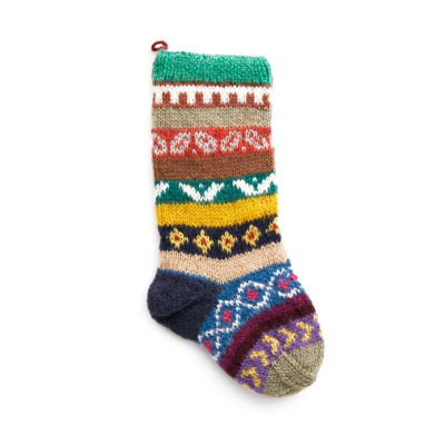 Nepali Remnant Patterned Stocking