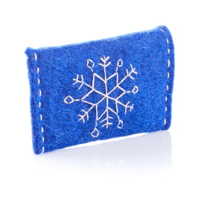 Blue Snowflake Gift Card Holder