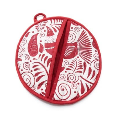 Red Quail Pot Holder