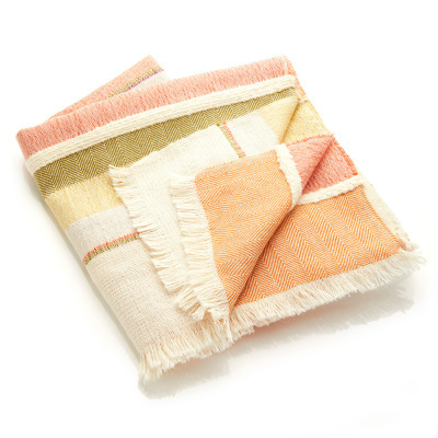 Highland Sunrise Alpaca Throw