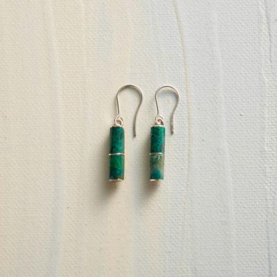 Peruvian Turquoise Column Earrings