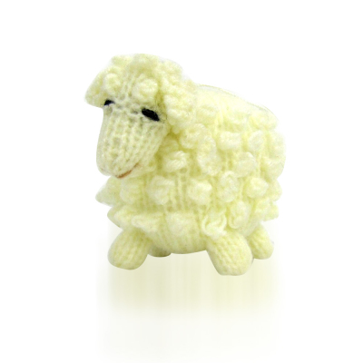 Highland Lamb Ornament - White