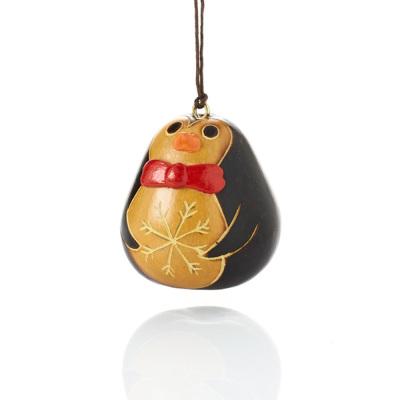 Gentleman Penguin Gourd Ornament