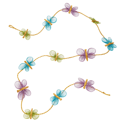 Abaca Butterfly Garland