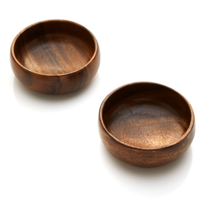 Acacia Wood Small Bowl Set