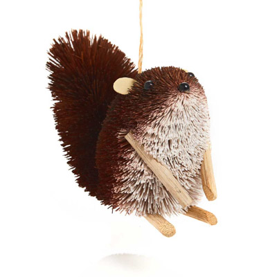Perky Squirrel Buri Ornament