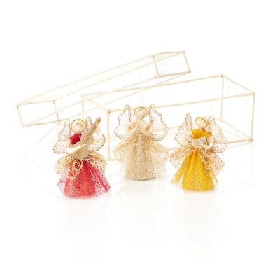 Trio of Angels Ornament Set