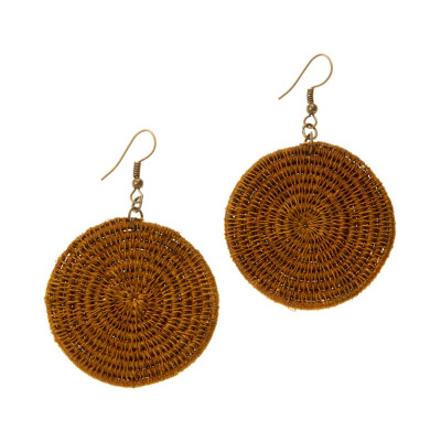 Nandi Fennel Disc Earrings