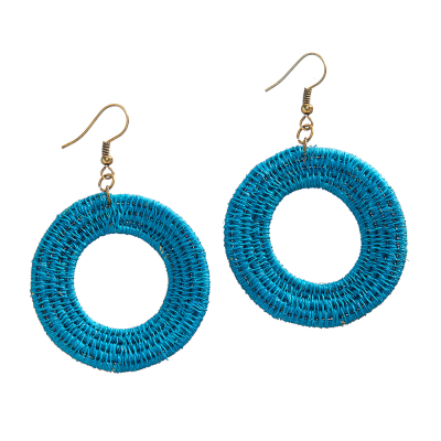 Lomati Woven Hoop Earrings