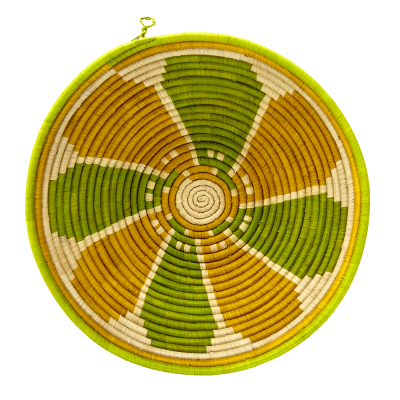 Lemon-Lime Raffia Basket