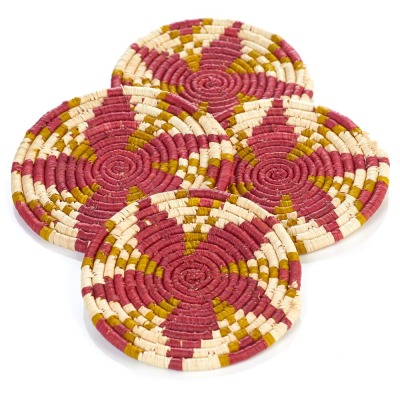 Malai Raffia Coasters - Set of 4