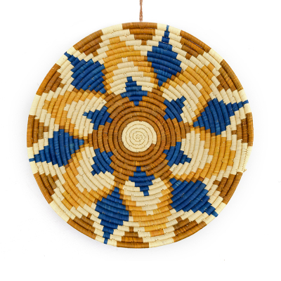 Jangwa Blue Raffia Basket