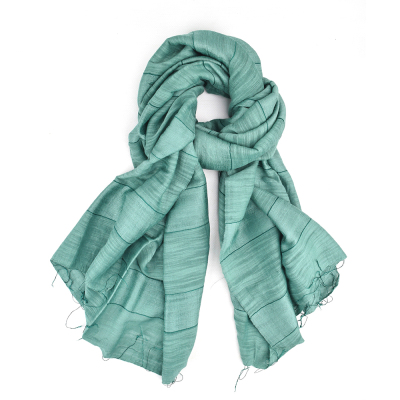 Teal Stripe Scarf - 2 for $38