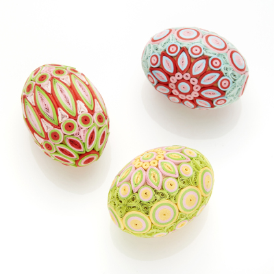 Spring Radiance Quilled Eggs