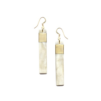 Natural Bar Earrings - Light