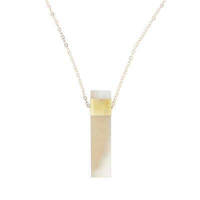 Natural Bar Pendant Necklace - Light