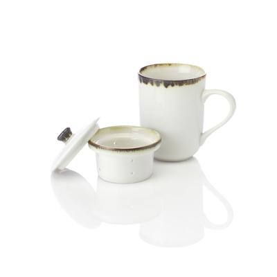 Modern White Tea Infuser Mug