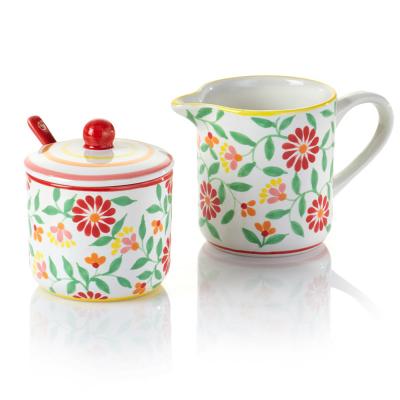Sang Hoa Ceramic Sugar Pot & Creamer