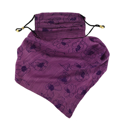 Lua Silk Scarf Mask - Boysenberry