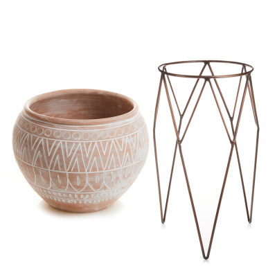 Globe Planter & Tall Plant Stand