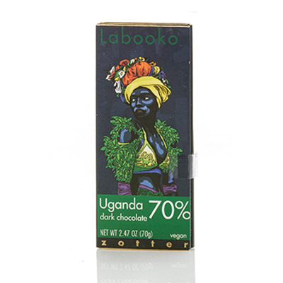 Organic Vegan Ugandan 70% Dark Chocolate Bar