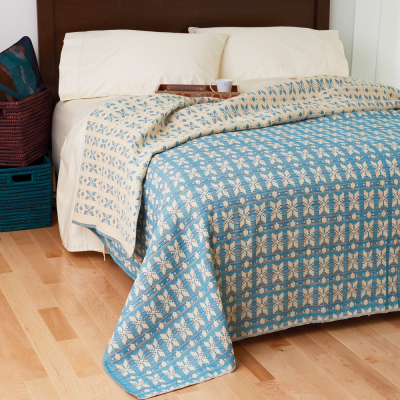 Egyptian Cotton Bedding - Teal & Multi Floral