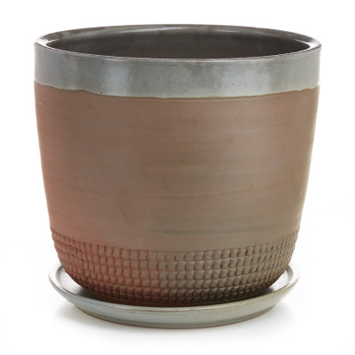 Stamped Earthenware Planters